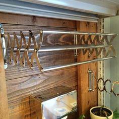 Towel Hanger, Bathroom Inspiration, Kitchen And Bath, Clothes Hanger, Track Lighting, Shades, Ceiling Lights, Home Decor, Brass