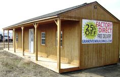 16x40 Side Porch Cabin built by Grandview Buildings!  Custom Builds available!