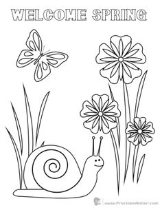 easy spring coloring pages for kids : Printable Coloring ...