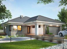 Miriam III - zdjęcie 2 Simple Bungalow House Designs, Modern Bungalow House, Bungalow Exterior, Bungalow House Plans, House Plans Mansion, Dream House Plans, House Layout Plans, House Layouts, One Storey House