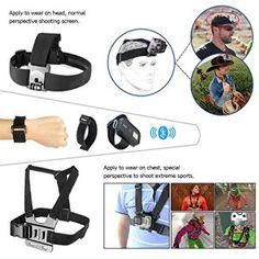Zookki Amusant Attendant Vous Trouvez Kit d'Accessoire pour Gopro 4 3+ 3 2 1 Noire Argent Accessory Set for GoPro Hero 4 3+ 3 2 1 Black…