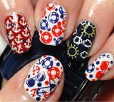 Stamping Nail Art By Cheeky- Manicure Using CH36 Stamping Nail Art Plate, Available On: www.cheeky-beauty.com