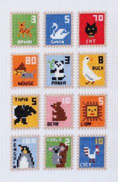 IDÉE イデー Cross Stitch For Kids, Cross Stitch Boards, Mini Cross Stitch, Cross Stitching, Cross Stitch Embroidery, Embroidery Patterns, Cross Stitch Designs, Cross Stitch Patterns, Baby Patchwork Quilt