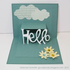 Sizzix: Die Cutting Inspiration and Tips: Die Cutting Paper: Just Saying Hello Card Tutorial (inside of card)
