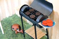 How to Make a Doll BBQ Grill diy doll furniture