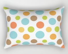 Polkadot Pillow, Circles Throw Pillow, Bubbles Pillow, Pillow Cover, Polka Dot, Modern, Retro Pillow, Mod, Round, Rectangle, Dots, Beatrix by peppermintcreek. Explore more products on http://peppermintcreek.etsy.com