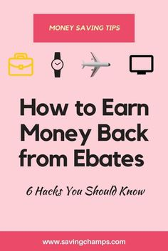 Hacks and tips on how to use Ebates to earn money back. Money saving tips, cash back, make money online, personal finance, online shopping, save money, how to use Ebates.