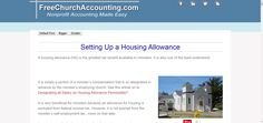 Housing Allowance for Ministers