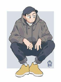 Art And Illustration, Character Illustration, Art Illustrations, Cute Art Styles, Cartoon Art Styles, Cartoon Kunst, Korean Art, Character Drawing, Boy Character