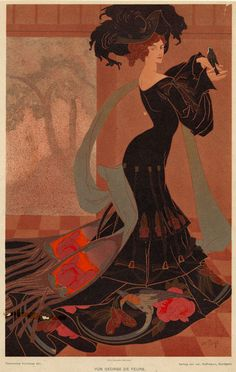 Georges de Feure (real name Georges Joseph van Sluÿters, 1868–1943) was a French painter, theatrical designer and industrial art designer in the symbolism & Art Nouveau styles.