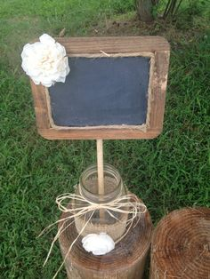 love to make this....Beautiful Rustic Wedding Chalkboard Sign