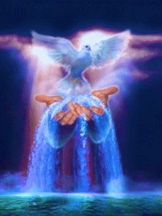 Holy Spirit - Poem by Sunshine Smile Pictures Of Jesus Christ, Religious Pictures, Christian Images, Christian Art, Dove Pictures, Jesus Wallpaper, Prophetic Art, Beautiful Gif, Holy Ghost