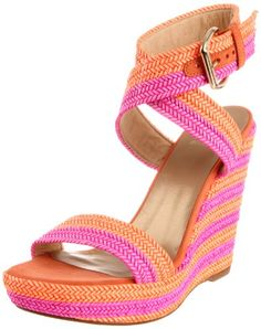 OMG, this is so pretty!  From Stuart Weitzman Women's Encore Wedge Sandal