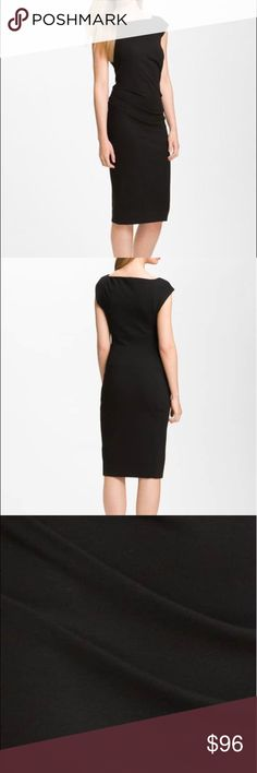 8539fa1a Diane von Furstenberg Black Gabi Knit Sheath Dress Diane von Furstenberg  Black Gabi Knit Sheath Dress