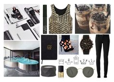 """Golden Age"" by itsme-bibicha ❤ liked on Polyvore featuring BOSS Hugo Boss, Gucci, NARS Cosmetics, Ray-Ban, Arco and Nomadic"