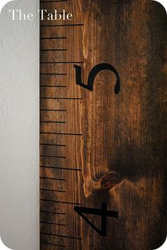 the table: ruler growth chart