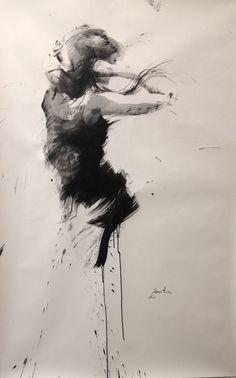 ewa hauton ink on paper http://ewahauton.wix.com/peinture