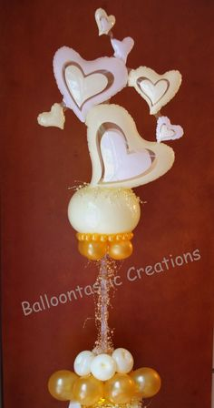Cherished Hearts Centerpiece...perfect for romantic weddings ...www.BalloontastikCreations.com