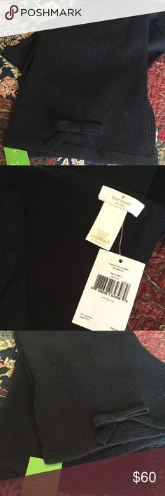 NWT Kate Spade scarf Black scarf with bow on each end.  Acrylic/wool blend. kate spade Accessories Scarves & Wraps