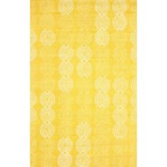 nuLOOM Handmade Elegant Link Yellow Wool Rug (5' x 8') | Overstock.com Shopping - The Best Deals on 5x8 - 6x9 Rugs