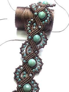 Items similar to Micro macramè bracelet. on Etsy : Micro macramè bracelet. by AnnodArte on Etsy, € Micro macramè bracelet. by AnnodArte on Etsy, € Macrame Colar, Macrame Bracelet Tutorial, Macrame Bag, Macrame Necklace, Macrame Jewelry, Macrame Bracelets, Wire Earrings, Wire Jewelry, Jewellery