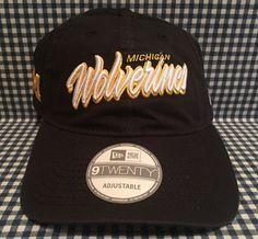 NEW Michigan Wolverines New Era NCAA Core Script 9TWENTY Adjustable Fit Hat Blue #NewEra #MichiganWolverines