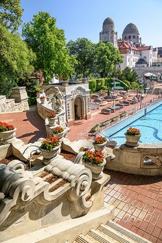 Gellért Thermal Baths in Budapest Beautiful Places In The World, Most Beautiful Cities, Places Around The World, Wonderful Places, Around The Worlds, Cool Places To Visit, Places To Travel, Places To Go, Capital Of Hungary