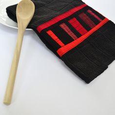 Schwarz Küchentuch geometrische Küchentuch von TwiggyandOpal