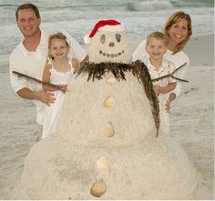 Take your Christmas card photo at your local beach during Summer. #Christmas, #Christmas Photography, #Christmas Photo