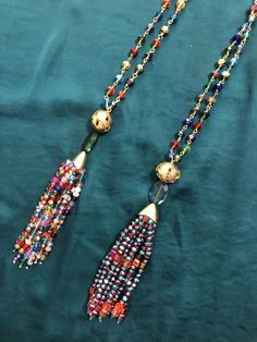 Collar, Tassel Necklace, Tassels, Jewelry, Fashion, Pom Poms, Rocks, Moda, Jewlery
