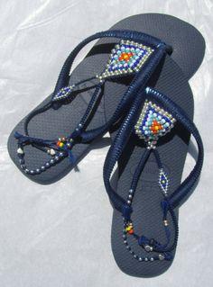 Vegan Shoes Navy Blue Havaianas Women Flip Flops Bohemian