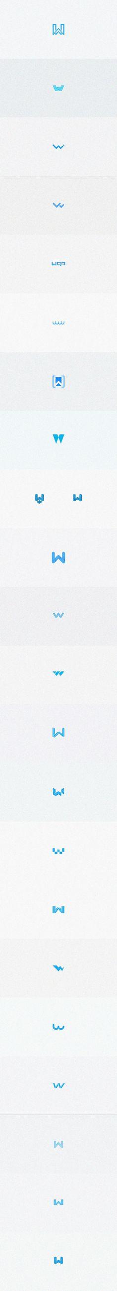 "查看我的 @Behance 项目:""w-logos""https://www.behance.net/gallery/46935993/w-logos"