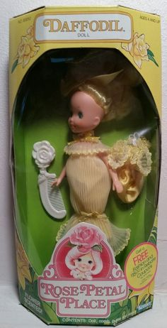 Vintage 1984 Rose-Petal Place - Daffodil - In Box & Unused - By Kenner!