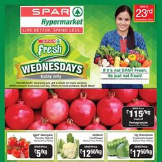 #SPARIndiaWednesday Save Big when you shop during #WednesdayFresh on the freshest produce and a wide range of categories. Experience the joy and benefits of shopping at a SPAR hypermarket on Wednesdays.