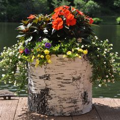 These planters add the authentic look and feel of birch bark to your garden. They are weatherproof and available in 4 sizes, so you can create a unique spread of your own.