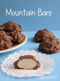 Mountain Bars - the copy cat recipe! A chocolate shell with peanuts and a vanilla candy center. Now you can make this yummy candy bar at home!
