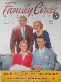Family Circle Magazine (Aug 1954) ... Mom had a subscription to family Circle. A very popular women's magazine of the times.