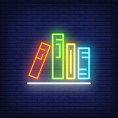 Books on shelf neon sign. Neon Light Wallpaper, Wallpaper Iphone Neon, Aesthetic Iphone Wallpaper, Galaxy Wallpaper, Neon Led, Picsart, Cute Love Wallpapers, Neon Words, Neon Painting