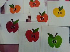 Tiskirätti. Painettu omenalla.