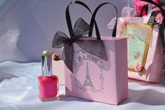 Paris party favor bags in pink for any occasion by steppnout