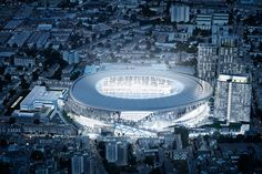 stadium for tottenham hotspur in  london by populous