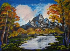 Картинки осень для рисования легкие