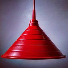 """Polubienia: 9, komentarze: 1 – modern (@modern_old2new) na Instagramie: """"Red metal vintage lamp #german #scandinavian #vintage #modern #midcentury #moderndesign #retro #70s…"""" Mid Century Modern Lamps, Vintage Lamps, Midcentury Modern, Scandinavian, Modern Design, Enamel, Ceiling Lights, Retro, Instagram"""