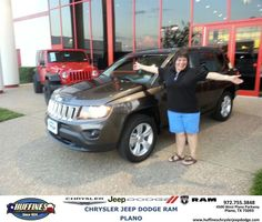 https://flic.kr/p/MVdpzE | #HappyAnniversary to Patricia and your 2015 #Jeep #Compass from Bill Moss at Huffines Chrysler Jeep Dodge RAM Plano! | www.deliverymaxx.com/DealerReviews.aspx?DealerCode=PMMM