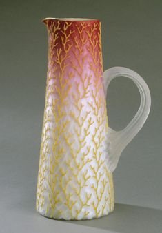 Pitcher (Coralene) Made by Mt. Washington Glass Company 1894