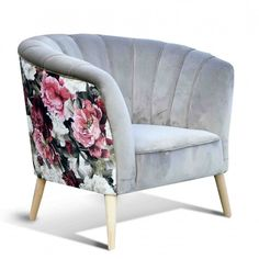Fotel muszla design modern Wood Design, Modern Design, Cocktail Chair, Patterned Chair, Modern Armchair, Living Room Grey, Upholstered Chairs, Club Chairs, Living Room Designs