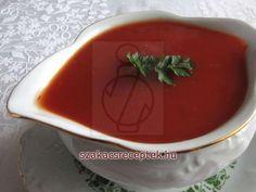Paradicsom mártás • Recept | szakacsreceptek.hu Pesto, Cooking Recipes, Pudding, Tableware, Desserts, Food, Drinks, Tailgate Desserts, Drinking