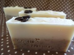 Cafe Latte Exfoliating Coffee Soap Artisan Cold by ChelleCorner, $7.00