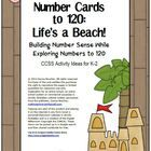 Beach themed number cards can be used with the activity instructions included in this unit or with Number Cards to 120: Workstation Activity Cards ...