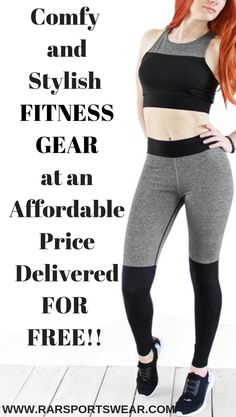 Black and Gray Crop Top Fitness Gear Set. Affordable ActivewearAffordable Workout  ClothesSexy Workout ClothesYoga GymYoga FitnessActive Wear For WomenGet ... c79bd1a7d